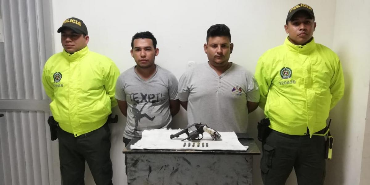 Janer Banquez Mieles y Edwin Ocampo Salinas, capturados