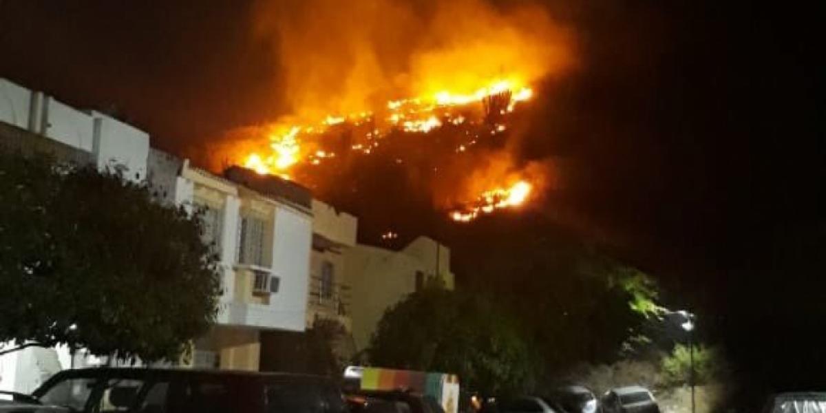 En Santa Marta en los 10 primeros días de enero se han registrado más de 80 incendios forestales