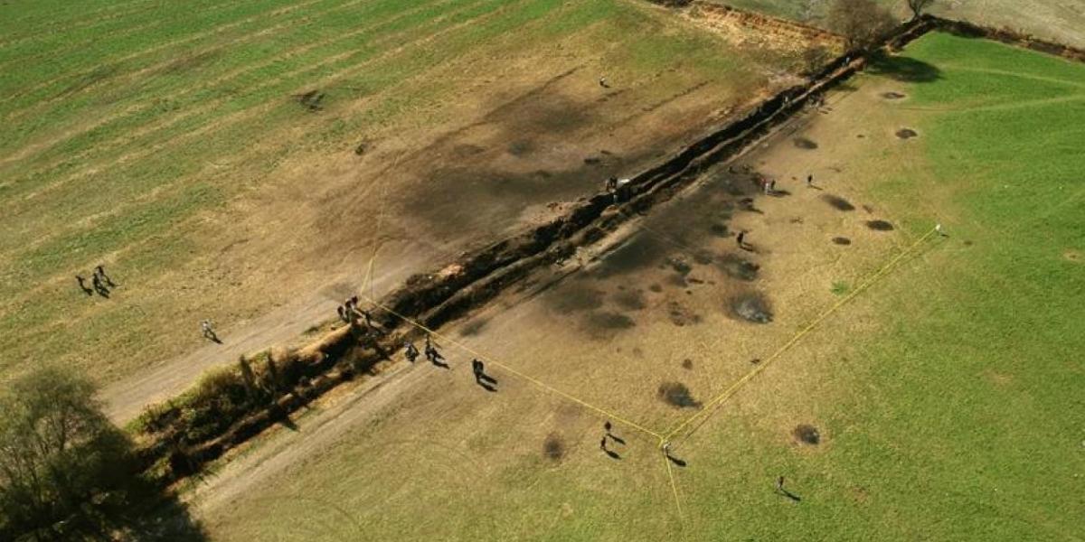 Foto del lugar de la explosión