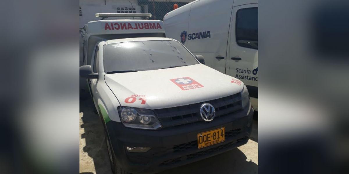 Ambulancia de la ESE recuperada en Barranquilla.