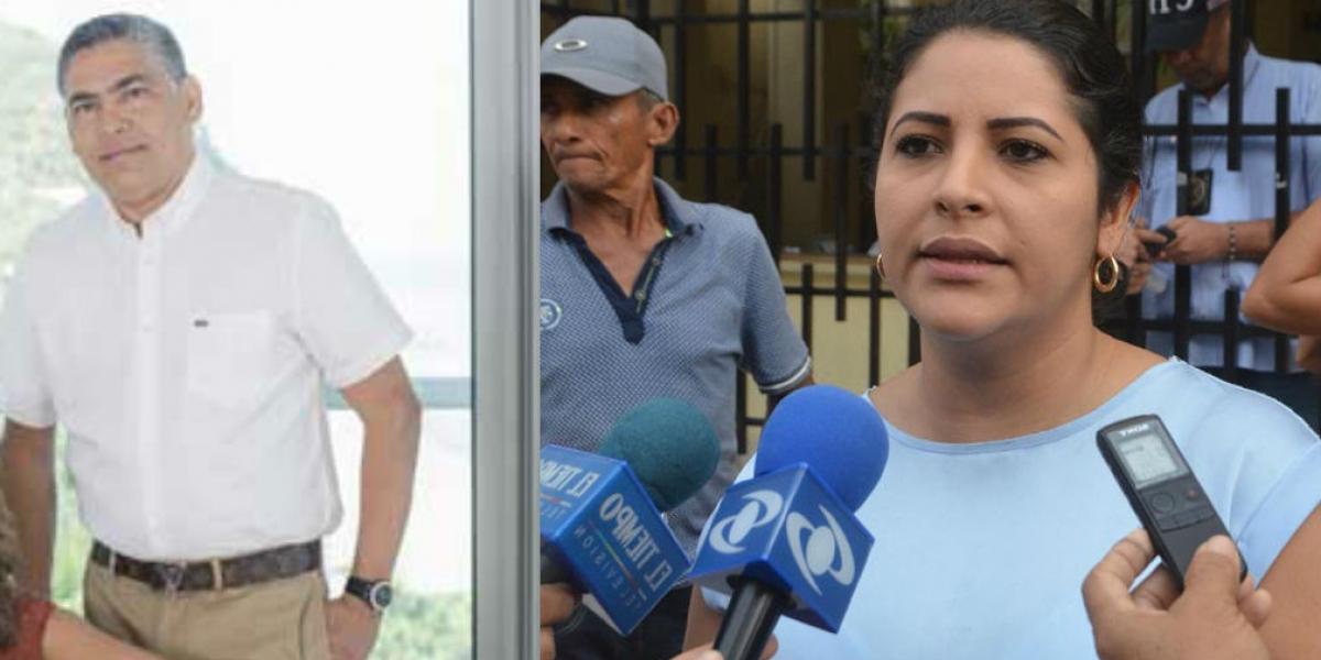 Raúl Salcedo (izq) se pronunció sobre el polémico audio del préstamo en el que fue garante Elisa Villarroel.