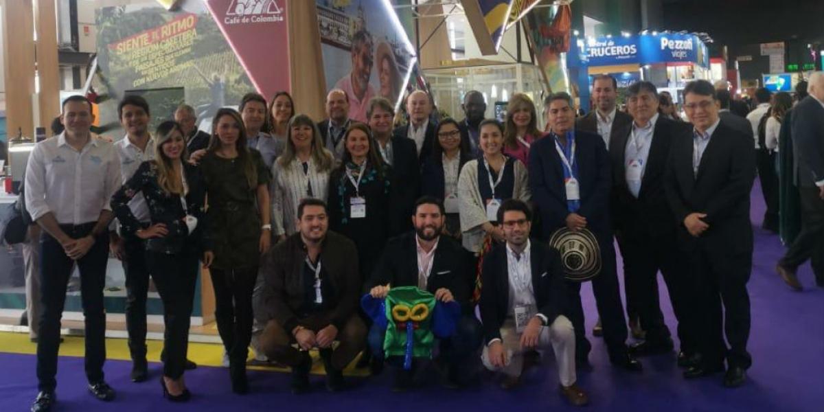 Delegación colombiana en la Feria Internacional de Buenos Aires.