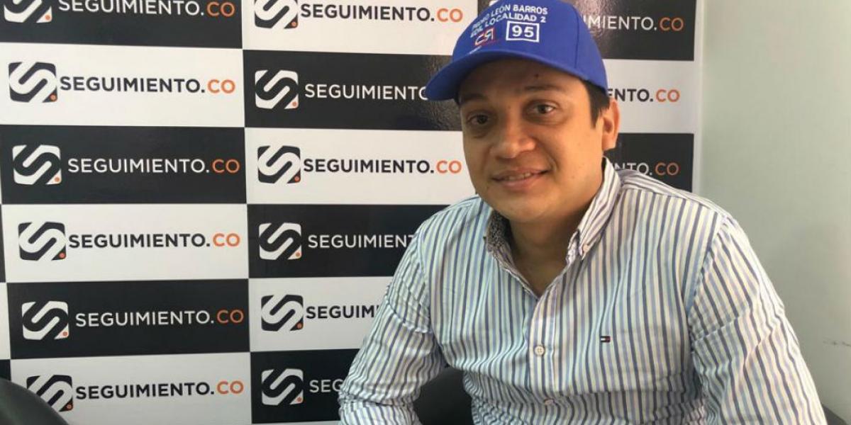 Pedro León Barros García, candidato a edil de la localidad 2.