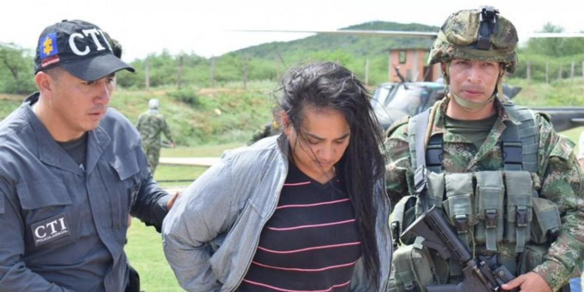 Liliana María Carvajal Pérez, alias 'La Negra', presunta integrante del ELN