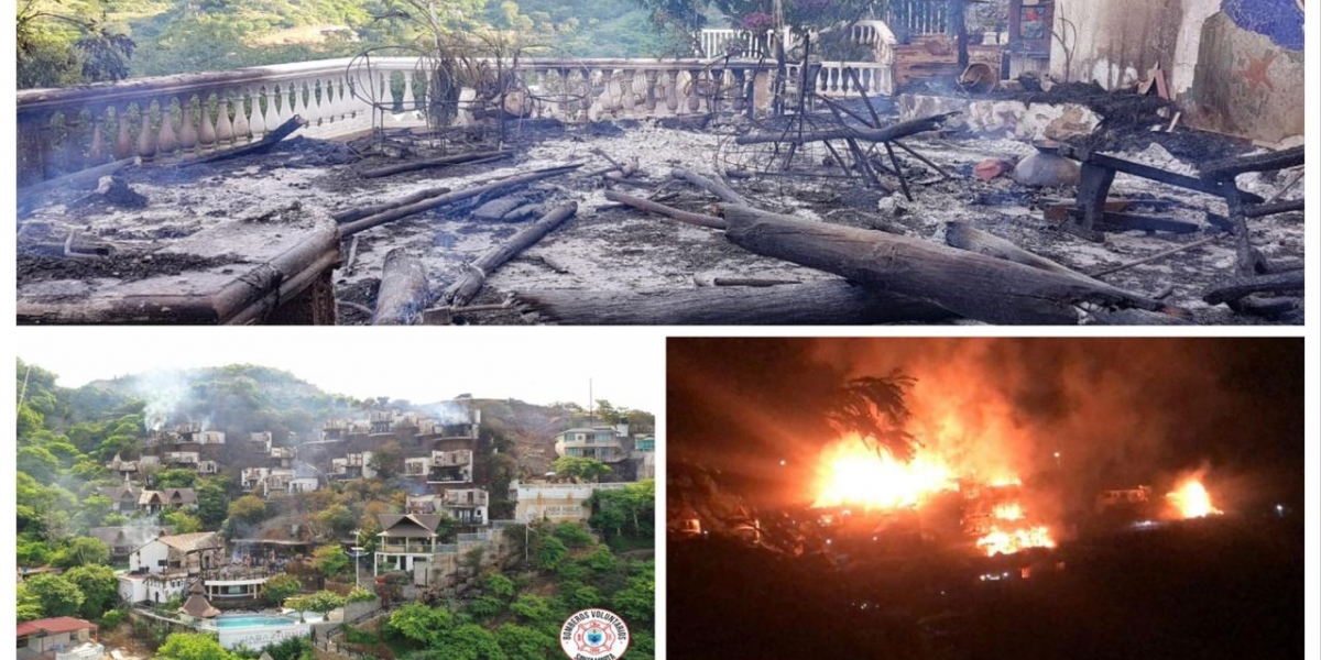 Incendio en el hotel Jaba Nibue
