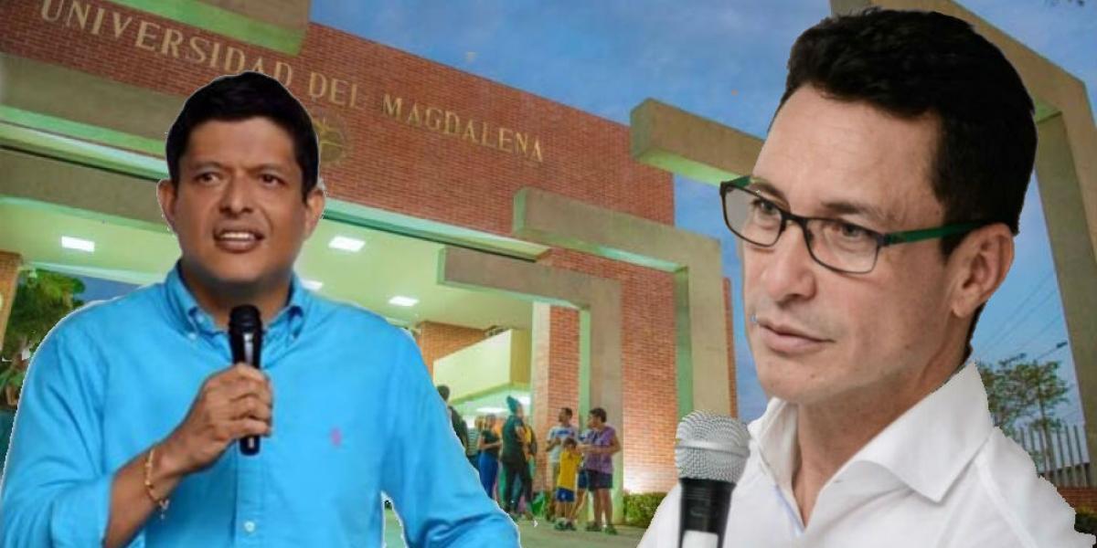 Pablo Vera, Rector de la Universidad del Magdalena y Carlos Caicedo.
