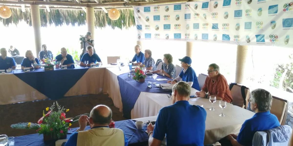 Los embajadores de la Unión Europea visitaron el Parque Tayrona.