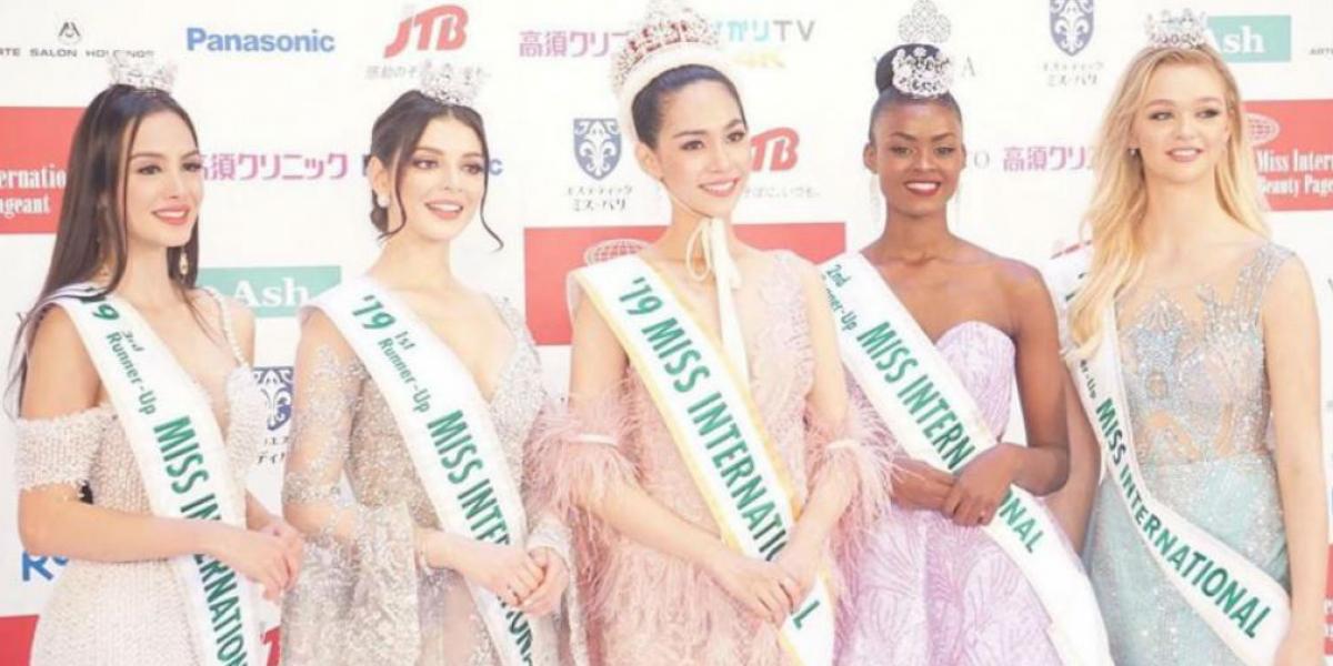 Top 5 en Miss internacional.