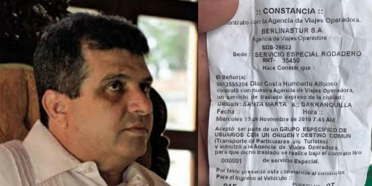 Humberto Díaz Costa, protagonista de la trifulca, fue candidato a la Alcaldía de Santa Marta.