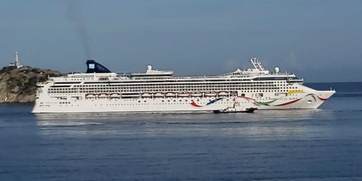 Crucero Norwegian Dawn, proveniente de Aruba.