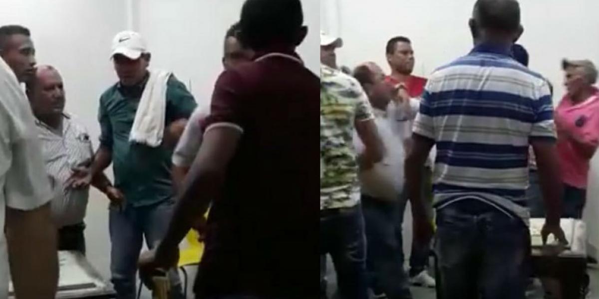 En video quedó registrada la pelea que sostuvo el alcalde de San Ángel.