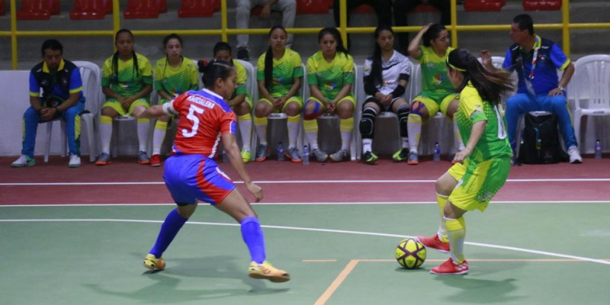 Magdalena perdió 7-1 con Nariño en la primera jornada de fútbol de salón femenino.
