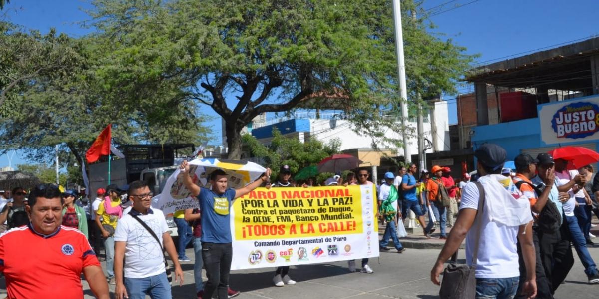 Marcha del 21N en Santa Marta