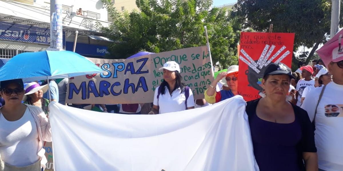 Marcha 21N en Santa Marta