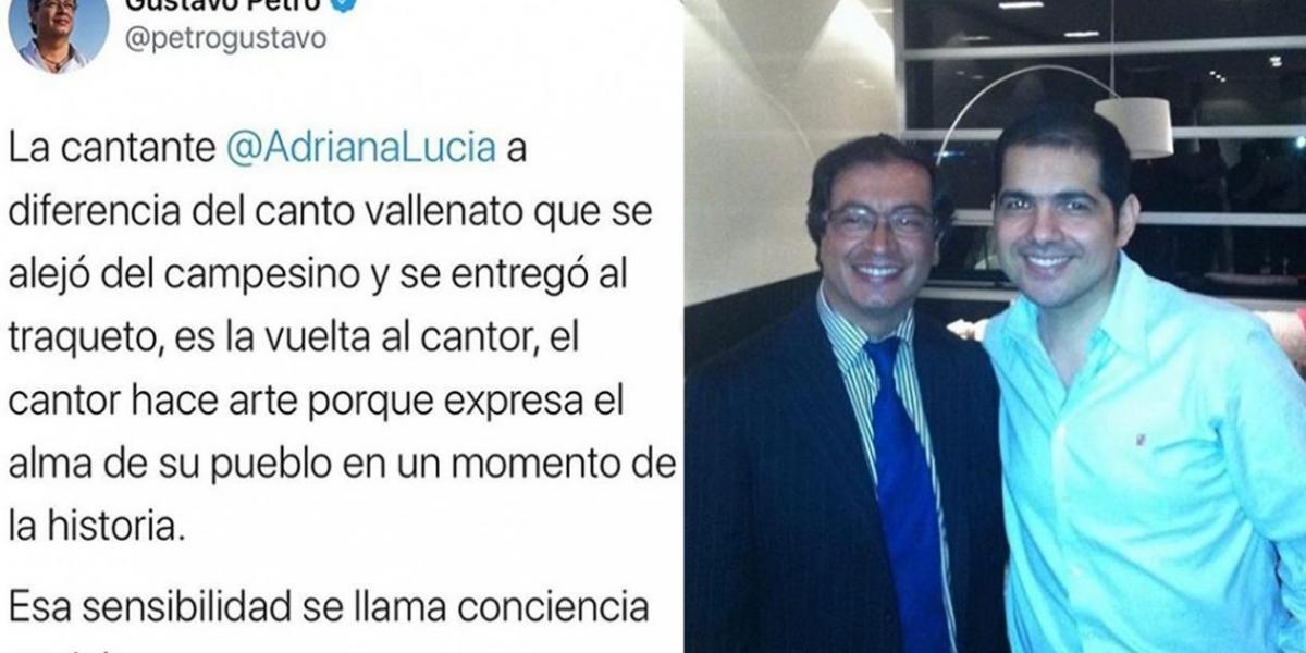 Comentario de Petro a Adriana Lucía causó malestar entre los artistas vallenatos