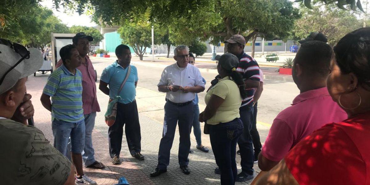 La reunión se llevó a cabo en los alrededores del estadio Eduardo Santos.