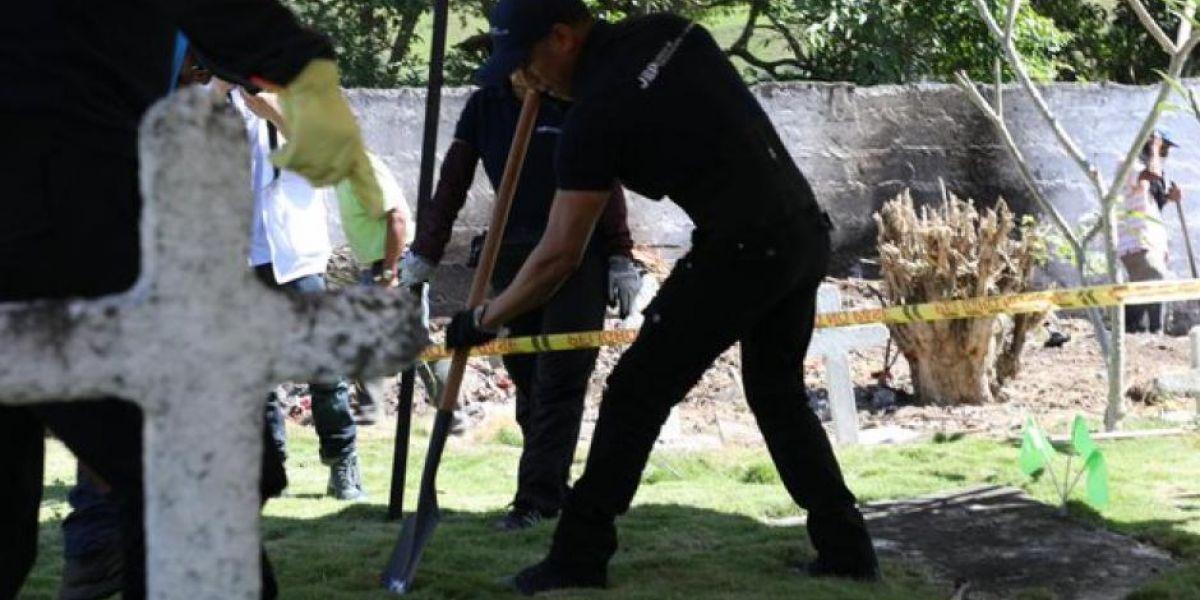 La JEP viene contrastando una información referente a ejecuciones extrajudiciales seguidas de desaparición forzada en Dabeiba en el cementerio Las Mercedes.