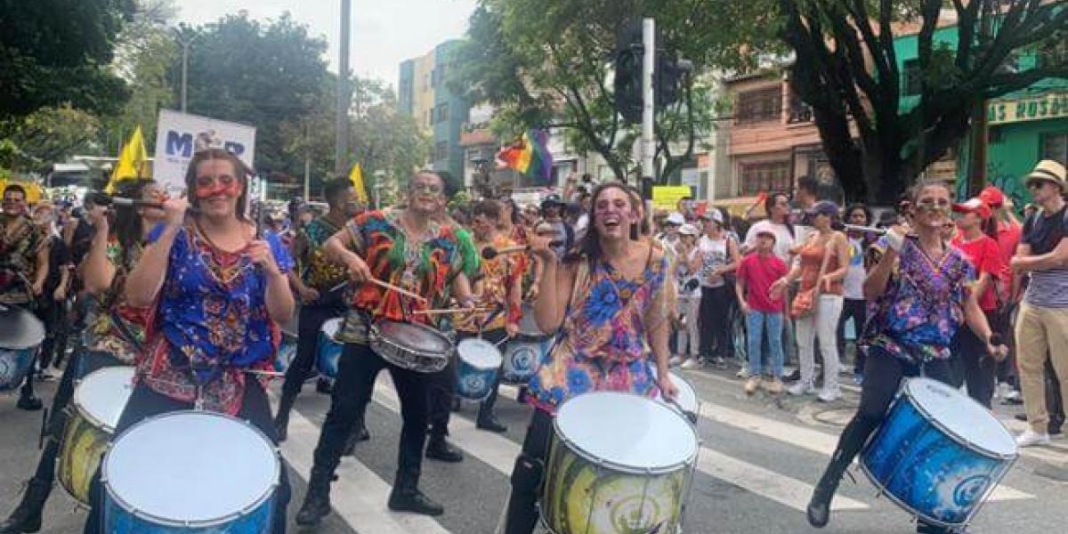 Movilización del paro nacional en Medellín