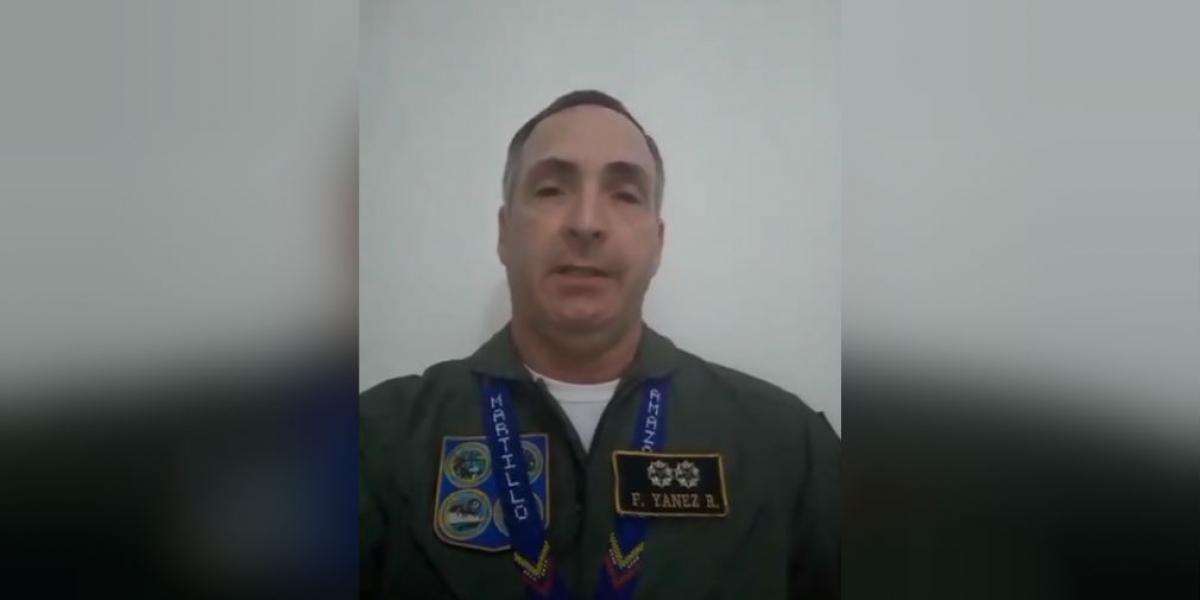 General de división y director de Planificación Estratégica de la Aviación venezolana, Francisco Esteban Yánez Rodríguez.