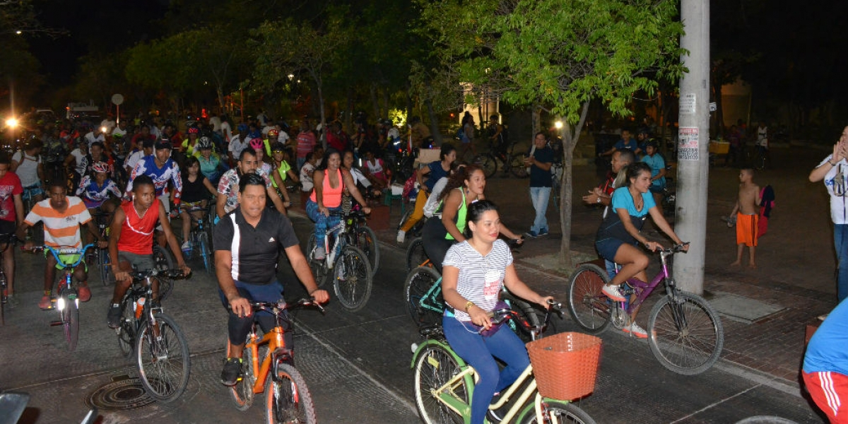 El ciclopaseo partió de la Alcaldía y culminó en Mamatoco.
