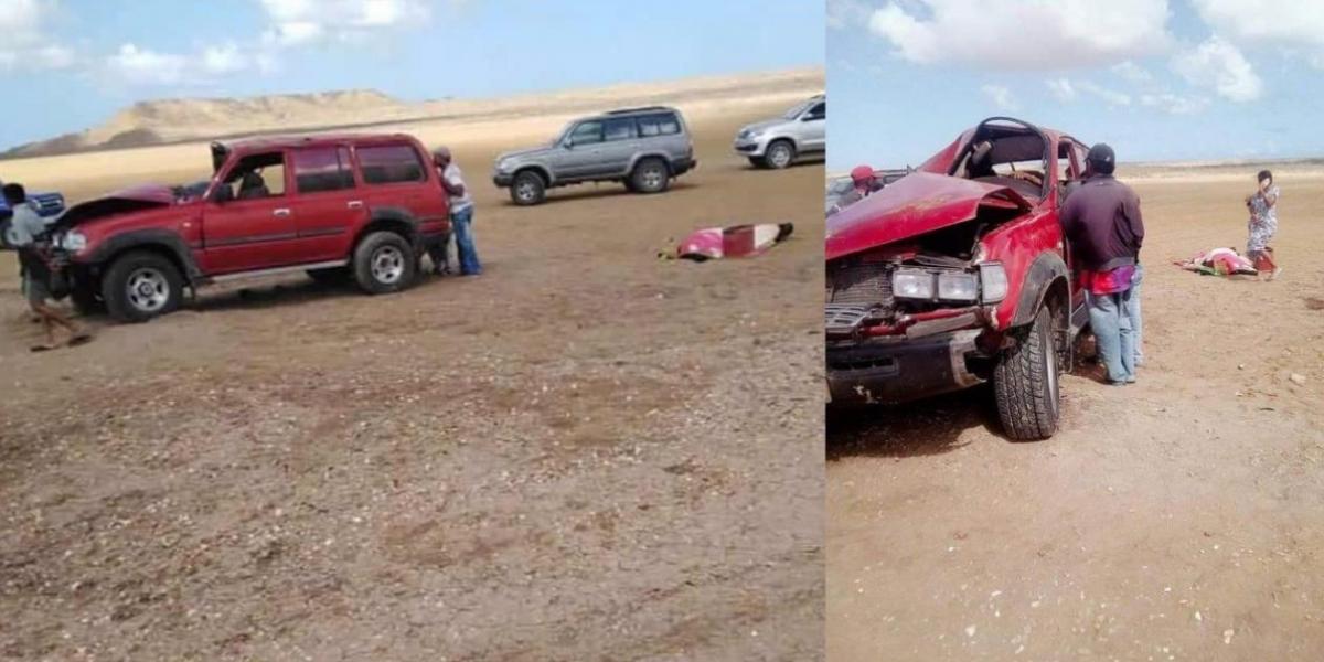 Accidente en Punta Gallinas.