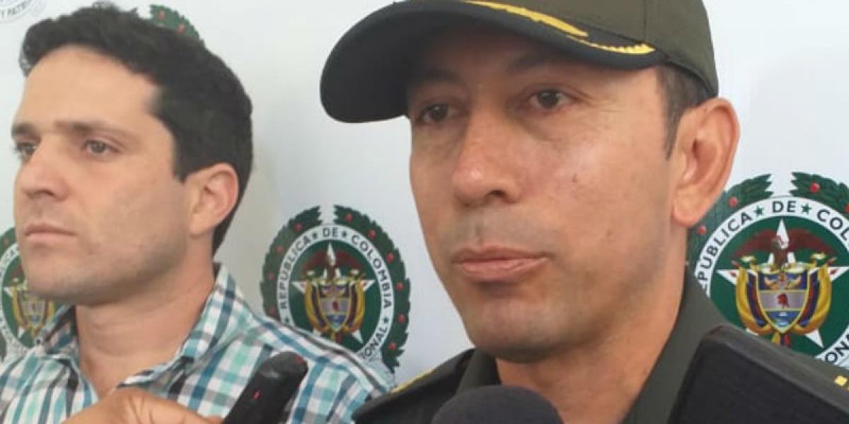 El Coronel entregó la información del operativo acompañado del secretario de Seguridad, Camilo George.