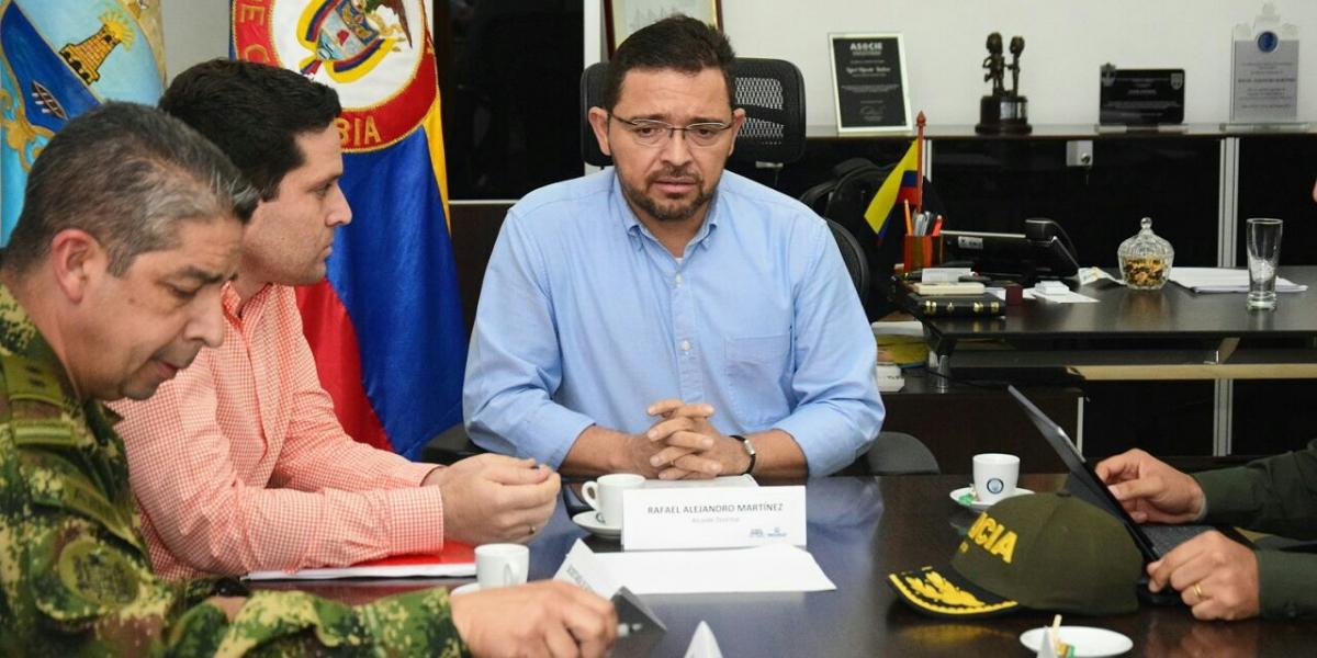 Alcalde Rafael Martínez, preside consejo de seguridad