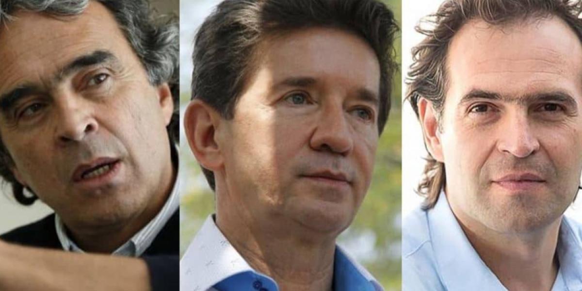 Sergio Fajardo, Luis Pérez y Federico Gutiérrez.