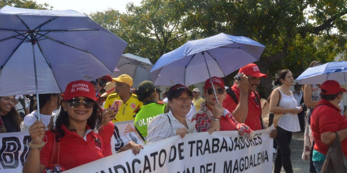 Esta fue la primera marcha del año de los educadores.