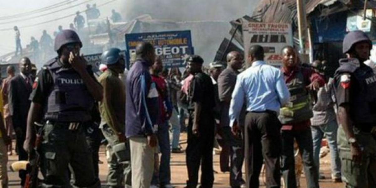 Imagenes del lugar del atentado