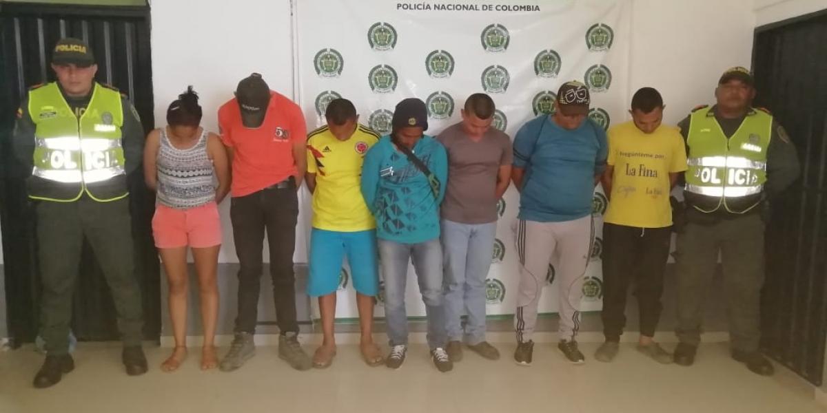 Los capturados por el delito de invasión de tierras.