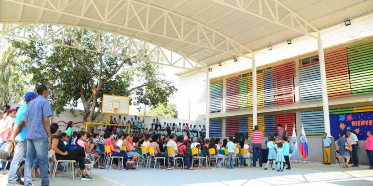 Las obras fueron entregadas por el Alcalde de Santa Marta.