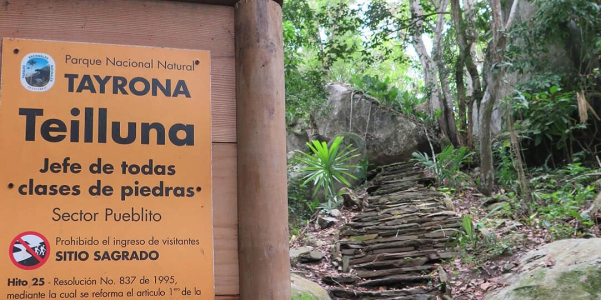 Pueblito es uno de los sitios restringidos para los visitantes.