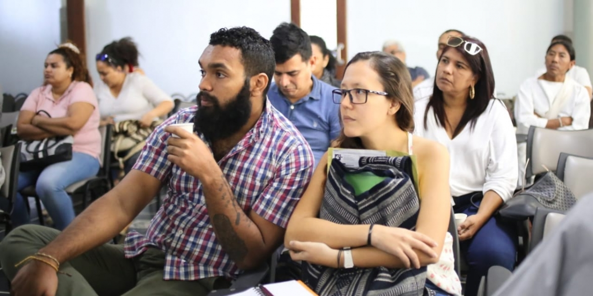 Participaron integrantes del ámbito cultural del Departamento, interesados en hacer parte de esta convocatoria.