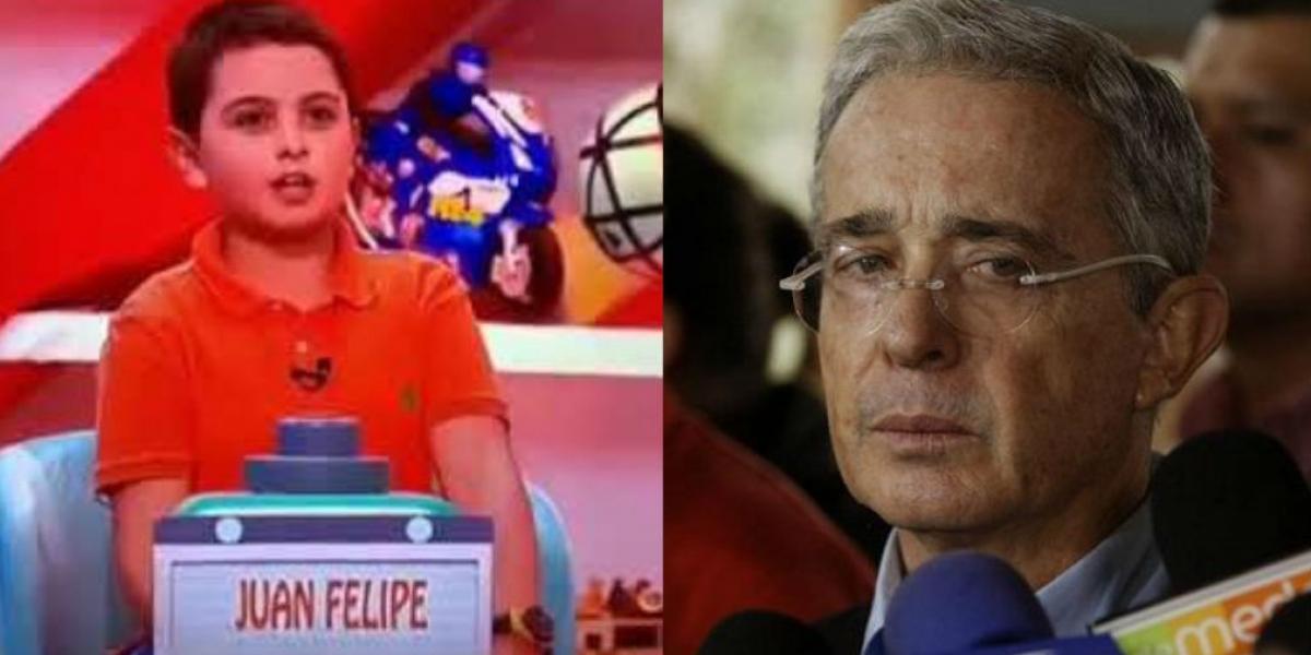 Juan Felipe, el niño que llamó corrupto a Uribe