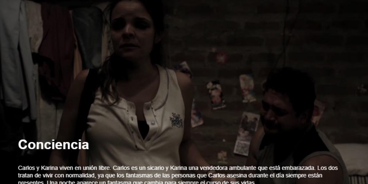 Conciencia es uno de los cortometrajes disponibles en la plataforma Videósfera de la Universidad del Magdalena.