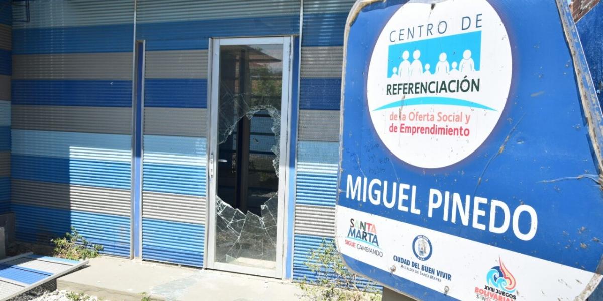 Fue hurtado el Centro de Emprendimiento en el barrio Miguel Pinedo