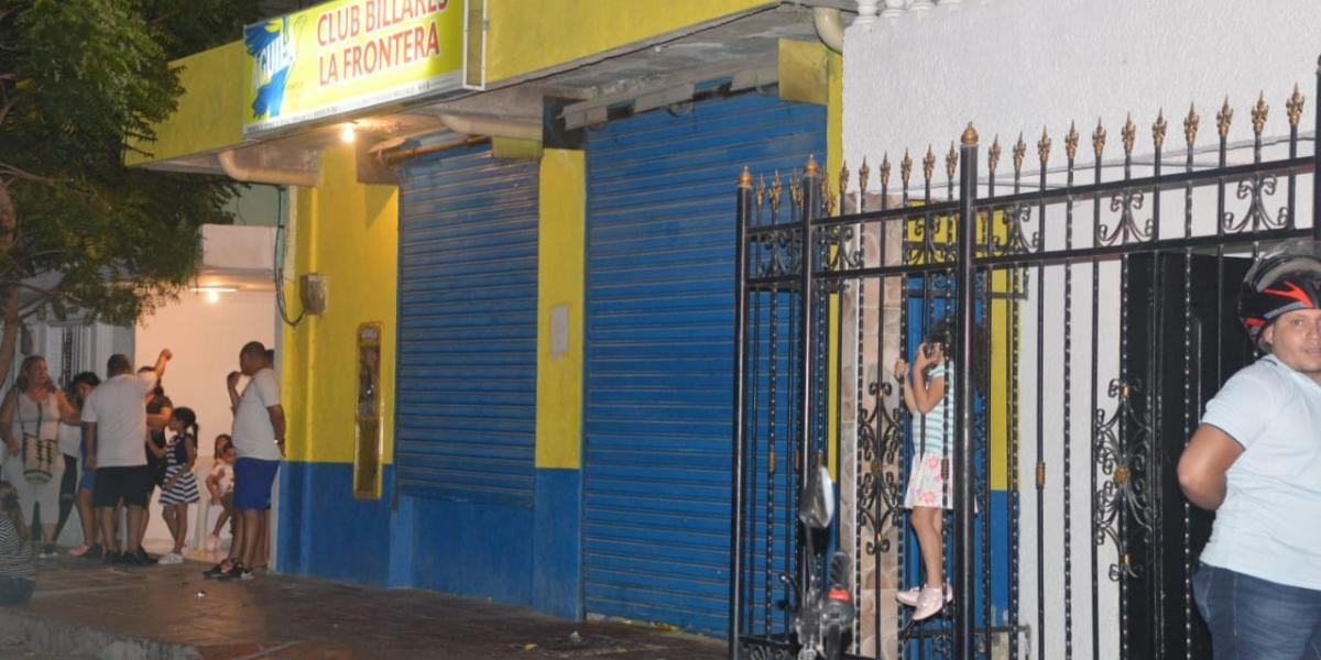 En el billar la Frontera, en el barrio 20 de Julio, ocurrió el homicidio.