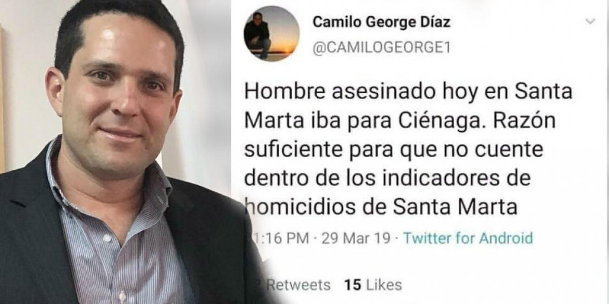 El secretario de Seguridad denunció en su Twitter el montaje del que fue víctima.