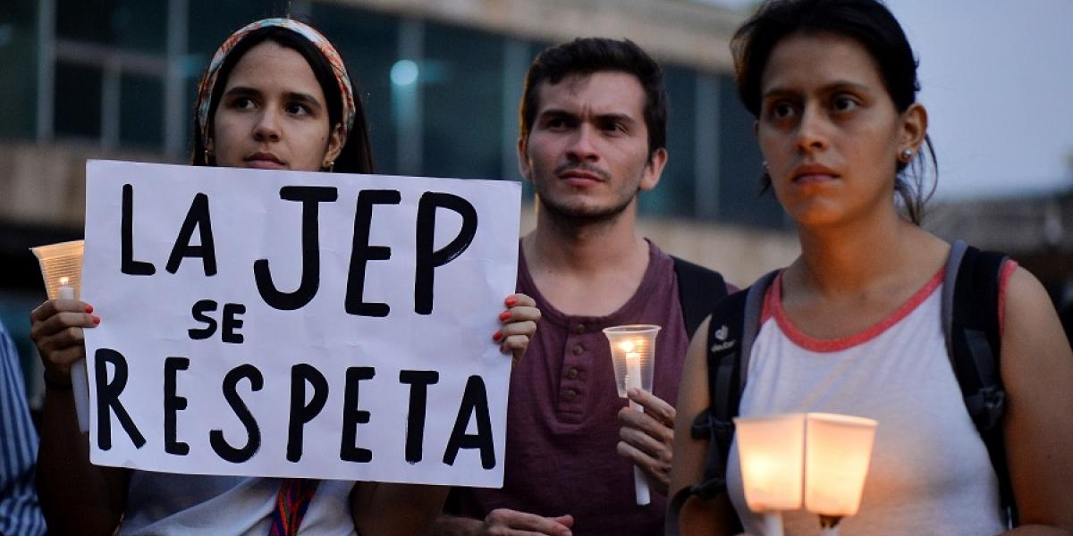 Protestas en apoyo a la JEP.