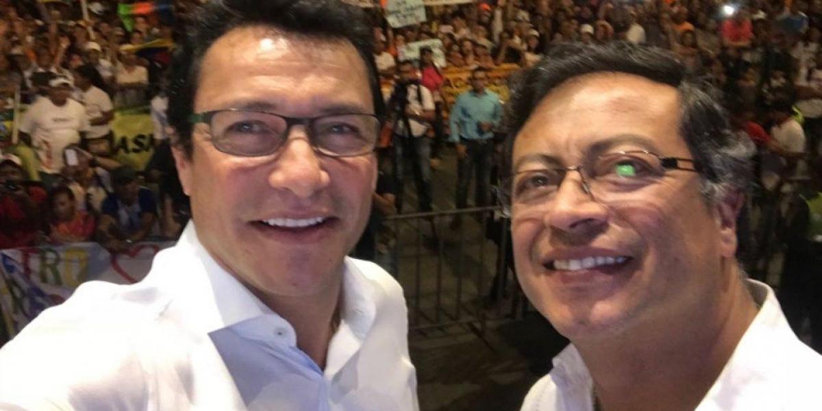 Carlos Caicedo y Gustavo Petro comparten la misma vertiente: ambos son exguerrilleros y militantes de la izquierda.