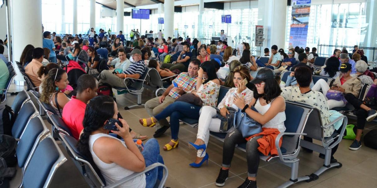 Vía aérea han arribado una gran cantidad de turistas a la ciudad.
