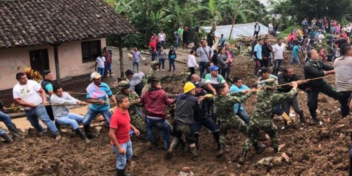 Deslizamientos de tierra en Rosas, Cauca.