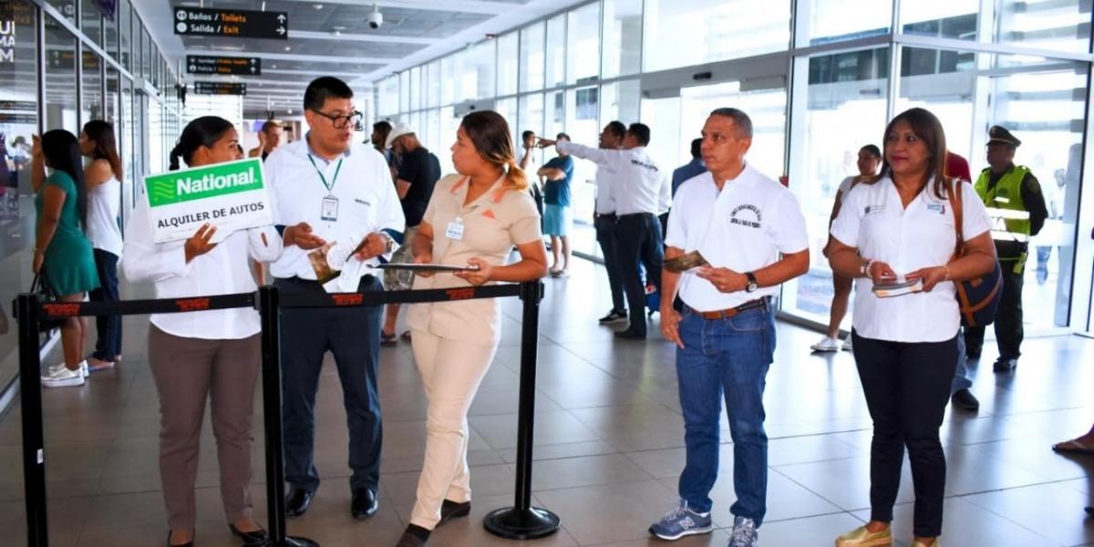 Una de las actividades se desarrolló en el aeropuerto Internacional Simón Bolívar.