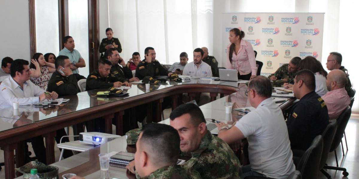 En el comité se presentaron informes sobre las acciones ejecutadas en el marco del Plan Integral de Seguridad y Convivencia Ciudadana del Departamento.