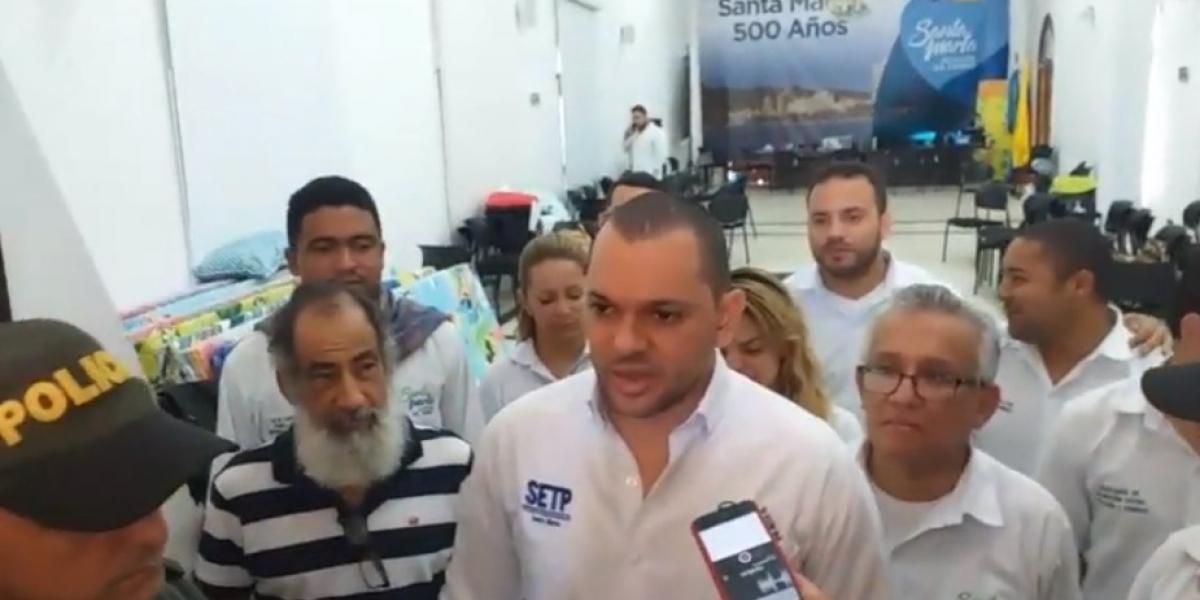 Luis Guillermo Rubio, gerente del Setp, entregó declaraciones a la prensa.