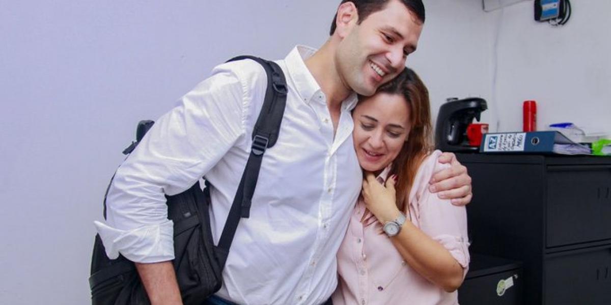 Luis Miguel Cotes y Jimena Abril