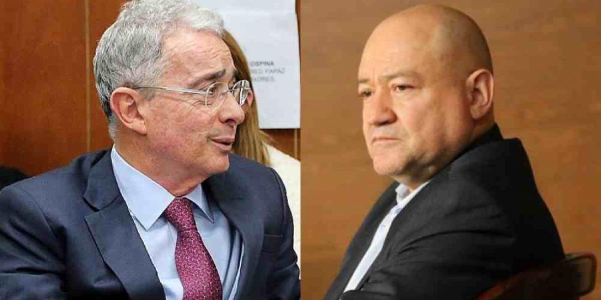 Álvaro Uribe Vélez y 'Carlos Antonio Lozada'.