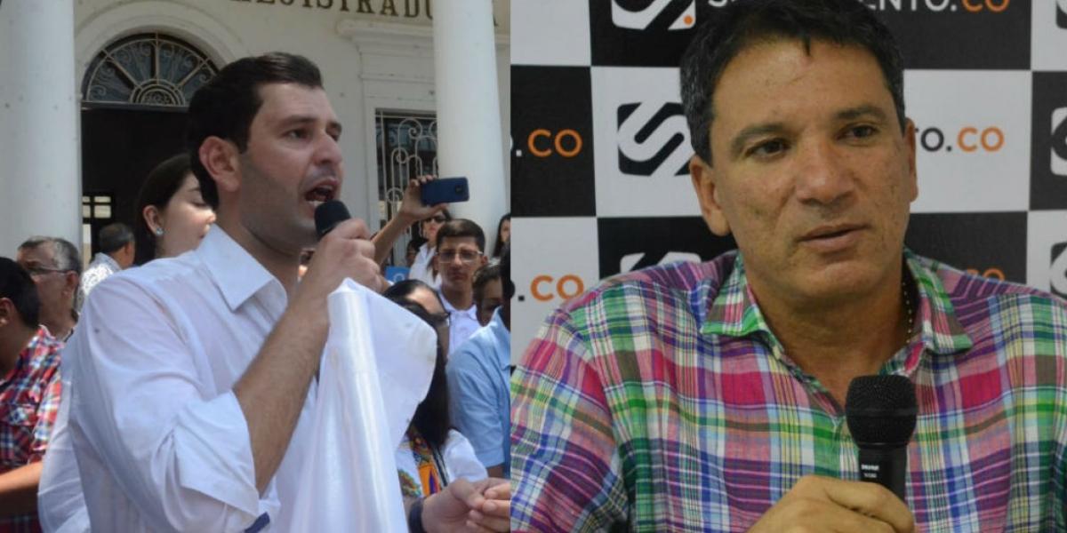 Luis Miguel Cotes y Juan Carlos Palacio podrían recibir apoyo del Centro Democrático, si ese partido no encuentra candidato propio.