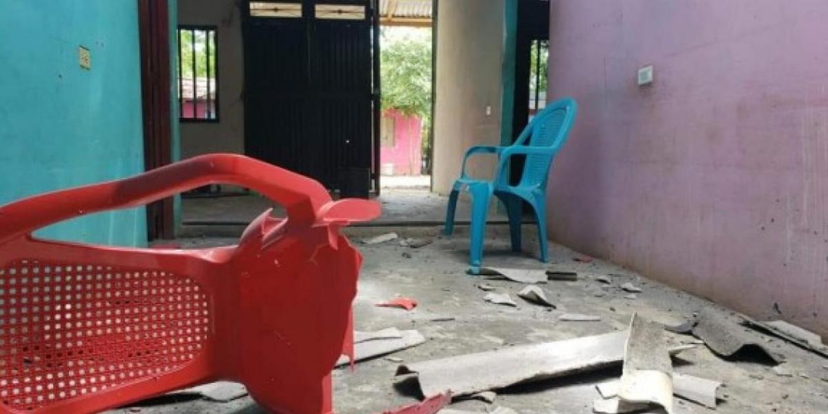 Foto publicada por el periódico El Colombiano del sitio de los hechos en Guarumo, Cáceres.